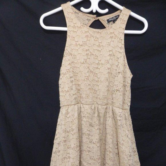 STREETWEAR SOCIETY, small, tan lace dress, BNWOT